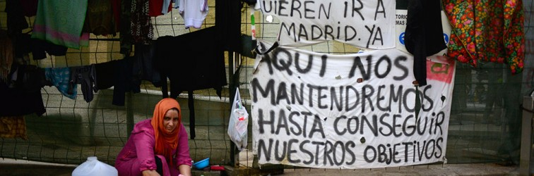 A Ceuta, les réfugiés syriens campent pour le droit à l'asile européen